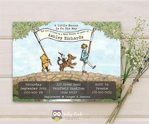 Winnie The Pooh Baby Shower Party Invitation