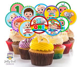 Cocomelon Birthday Party Cupcake Topper for AGE 1