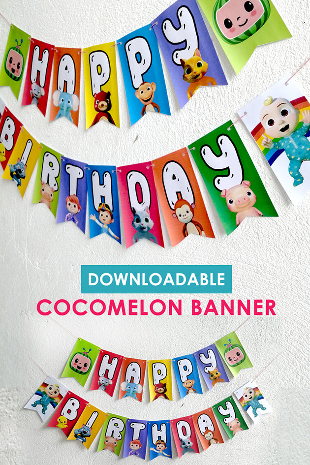 Cocomelon Happy Birthday Party Banner - Digital Printable ...