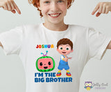 Cocomelon Iron On Transfer T-shirt Design / Birthday Family T-shirt For Big Brother / Digital File Only