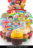 Cocomelon Birthday Party Cupcake Topper