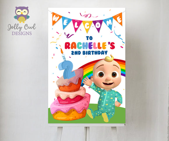 Cocomelon Birthday Party Welcome Sign - Digital Printable
