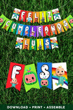 Cocomelon Feliz Cumpleaños Party Banner - Personalized Birthday Banner
