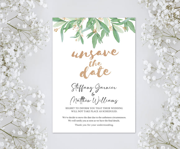 Wedding or Bridal Shower Postponement Digital Announcement