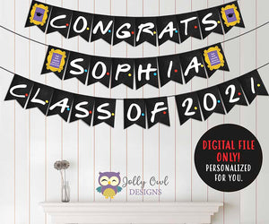 Friends TV Show Banner for Graduation Party - Congrats