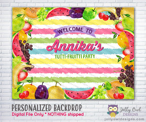 Tutti Fruitti Party Backdrop