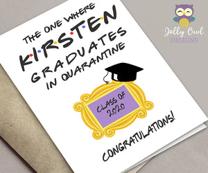 FRIENDS TV Show Personalized Graduation Greeting Card - Digital File