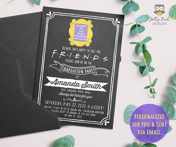 FRIENDS TV Show Graduation Party Invitation