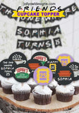 Friends TV Cupcake Toppers - Personalized Birthday Party Circles