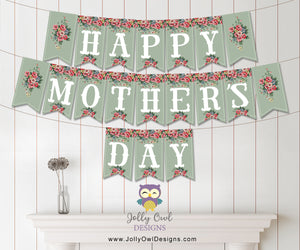 Happy Mother's Day Printable Banner - Instant Digital Download