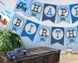Little Blue Truck Happy Birthday Banner