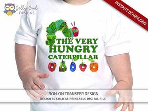 The Very Hungry Caterpillar Iron On Transfer Design Birthday Shirt