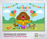 Hey Duggee Birthday Party Backdrop - Digital File