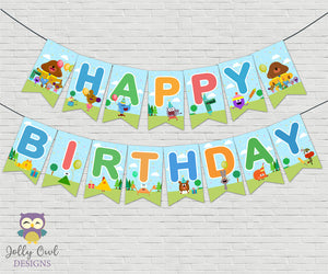 Hey Duggee Happy Birthday Banner