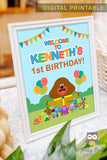 Hey Duggee Happy Birthday Welcome Sign - Personalized