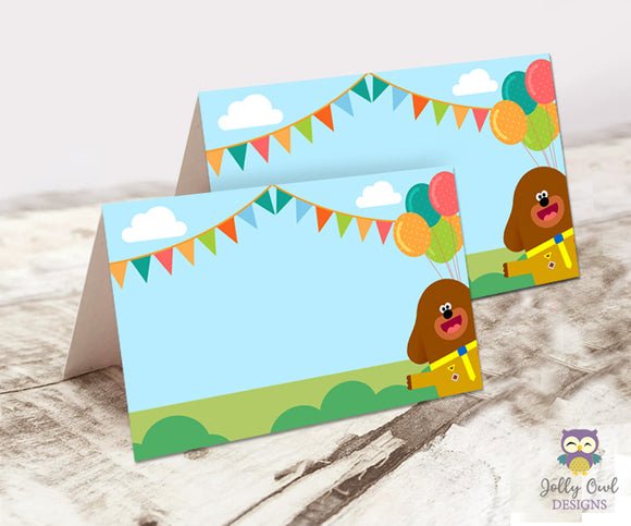 Blank Food Tent Label for Hey Duggee Party Theme