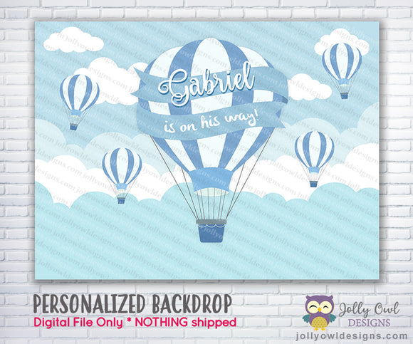 Hot Air Balloon Baby Shower Backdrop