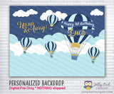 Up Up and Away Hot Air Balloon Party Backdrop