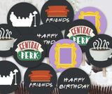 FRIENDS TV Cupcake Toppers |  Birthday Party Circles