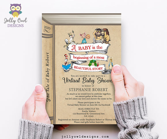 Virtual Baby Shower Evite - Digital Invitation