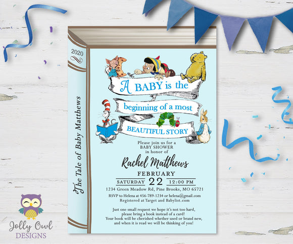 Storybook Themed Baby Shower Invitation