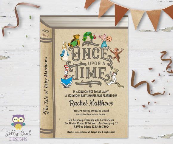 Storybook Themed Baby Shower Invitation - Once Upon A Time