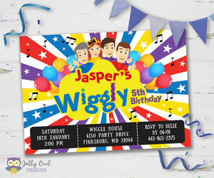 Wiggles Birthday Party Invitation