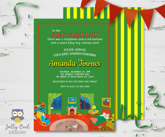 Goodnight Moon Baby Shower Invitation