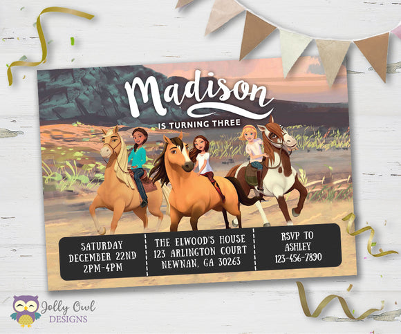 Spirit Riding Free Birthday Party Invitation