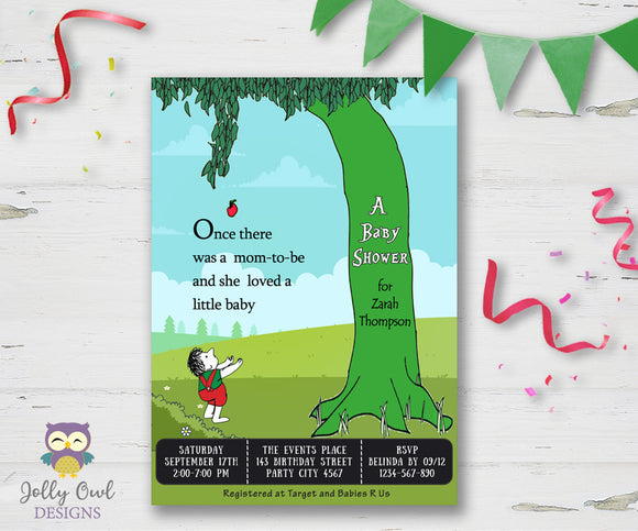 The Giving Tree Baby Shower Invitation