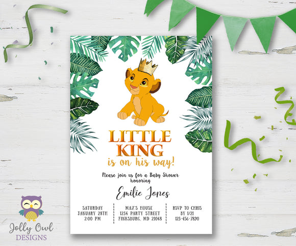 The Lion King Baby Shower Invitation