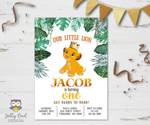 The Lion King Birthday Party Invitation