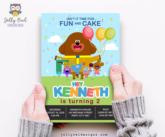 Hey Duggee Birthday Party Invitation