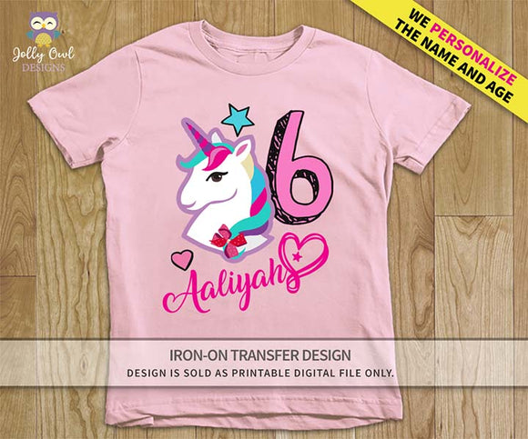 Jojo Siwa Personalized Iron On Transfer Design For Age 6
