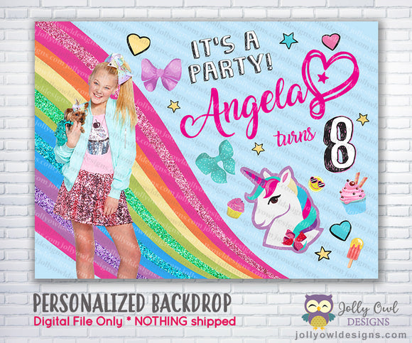 Jojo Siwa Birthday Party Backdrop