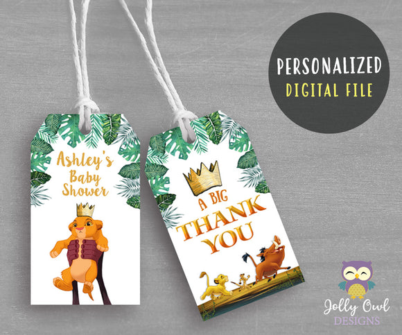 The Lion King Thank You Tag - Gift Label