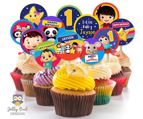 Little Baby Bum Birthday Party Cupcake Toppers Or Label - Personalized