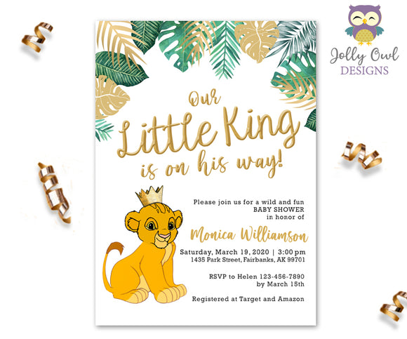 Printable Lion King Baby Shower Invitation