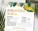Jungle Safari Lion King Baby Shower - Baby Predictions and Advice