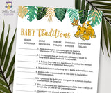 Jungle Safari Lion King Baby Shower - Baby Traditions Game