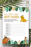 Jungle Safari Lion King Baby Shower - Dirty Diaper Game Activity