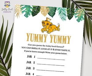 Jungle Safari Lion King Baby Shower - Yummy Food Game