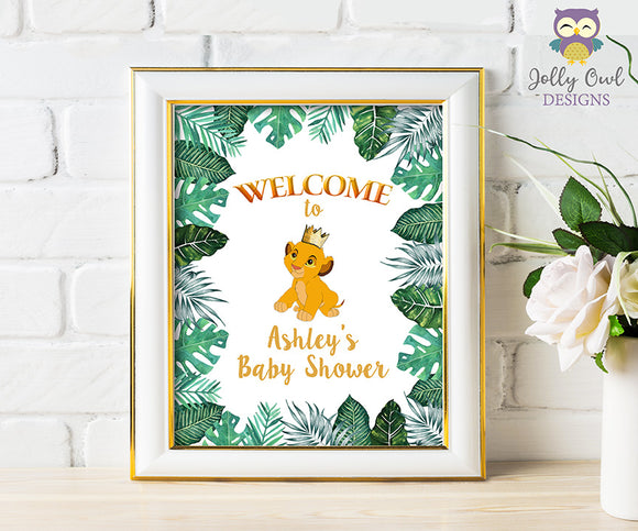 The Lion King Baby Shower Sign - Personalized Welcome Sign