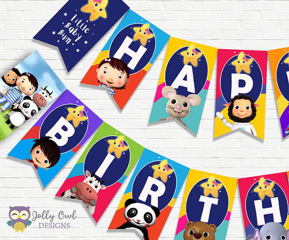 Little Baby Bum Birthday Party Banner Decoration - Digital Download File