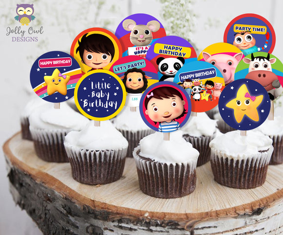 Little Baby Bum Birthday Party Cupcake Toppers Or Label - Digital Download