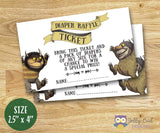 Where The Wild Things Are Baby Shower - Diaper Raffle Sign