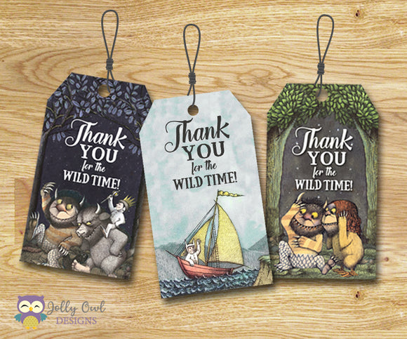 Where The Wild Things Are Thank You Tag - Favor Tag