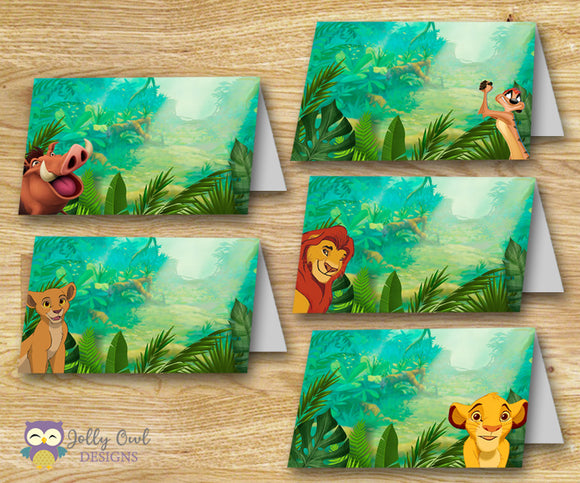The Lion King Food Label - Food Tent - Jolly Owl Designs
