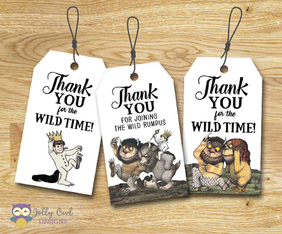 Where The Wild Things Are Party Favor Tag