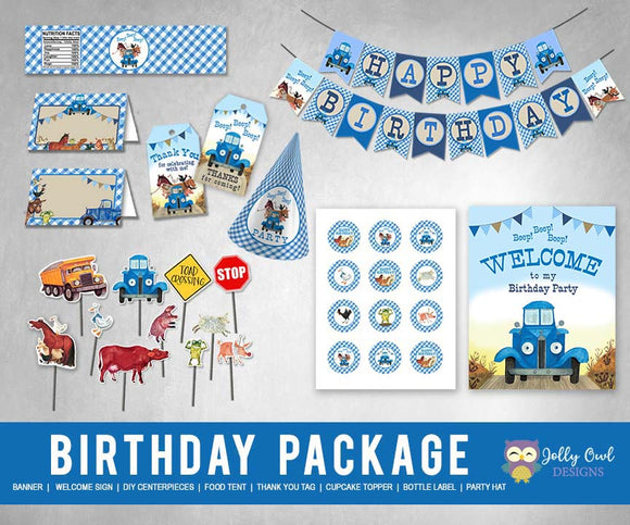 Little Blue Truck Birthday Party Package